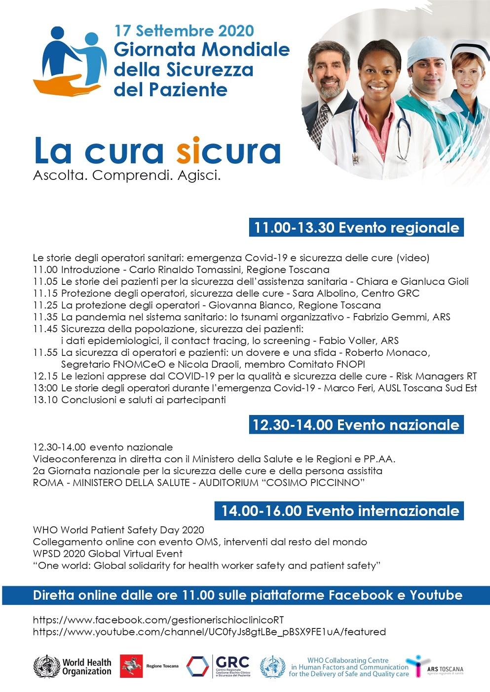 Giornata mondiale sicurezza del paziente programma