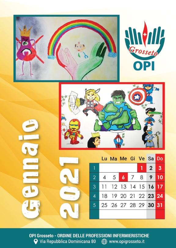 calendario dei bambini 2021